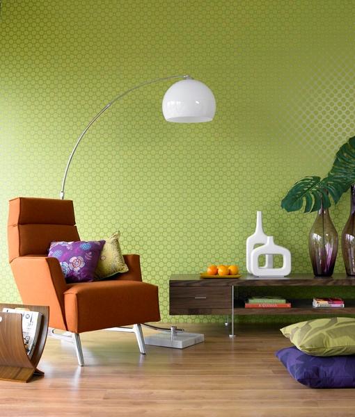 modern booglamp groen oranje