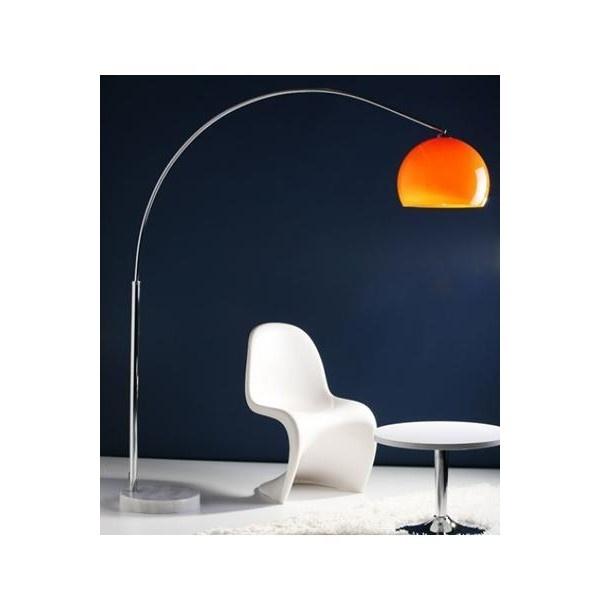 modern booglamp oranje blauw wit