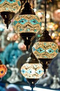 marokkaanse lampen blauw turquoise