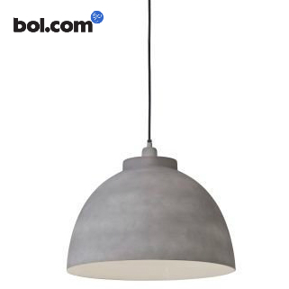 grijs betonlook industriele lamp