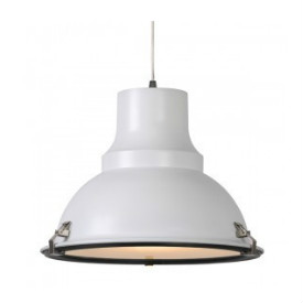 industriele lamp wit met glas