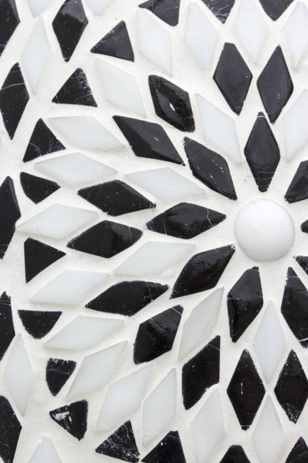 detail hanglamp oosters mozaiek wit