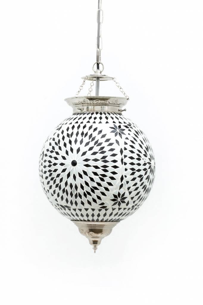 hanglamp oosters mozaiek wit