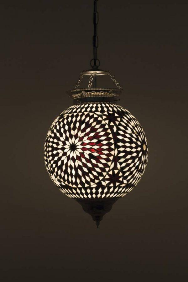 licht hanglamp oosters mozaiek wit